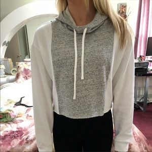 Victoria Secret pink long sleeve crop hoodie